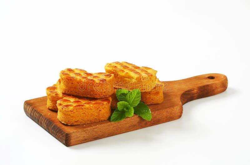 Nederlandse amandelkoekjes stock afbeelding