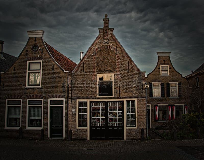 Nederlandse Huizen Schipluiden Nederland stock foto's