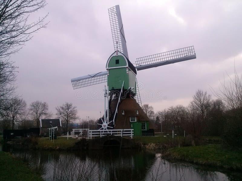 Nederlandse molen stock foto