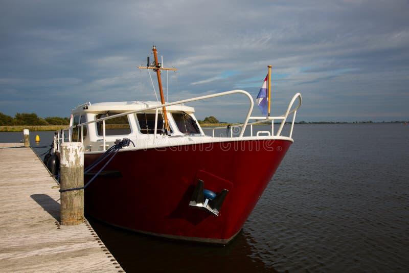 Nederlandse motorboot royalty-vrije stock afbeeldingen
