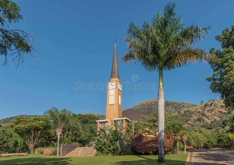 Nederlandse Opnieuw gevormde Kerk in Barberton stock fotografie