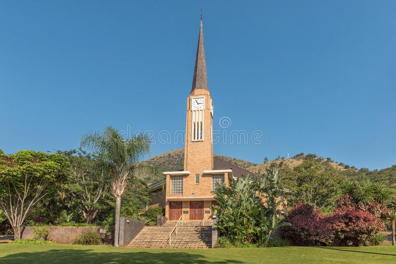 Nederlandse Opnieuw gevormde Kerk in Barberton royalty-vrije stock foto