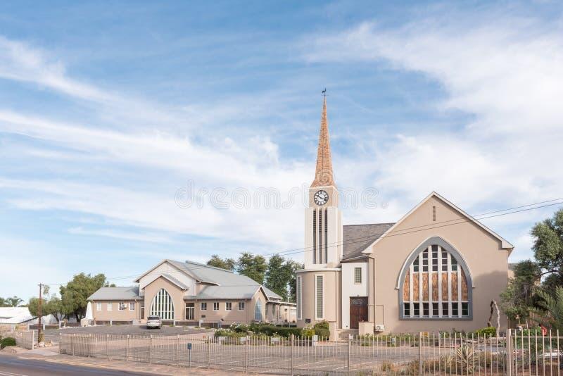 Nederlandse Opnieuw gevormde Kerk en zaal in Keimoes royalty-vrije stock afbeelding