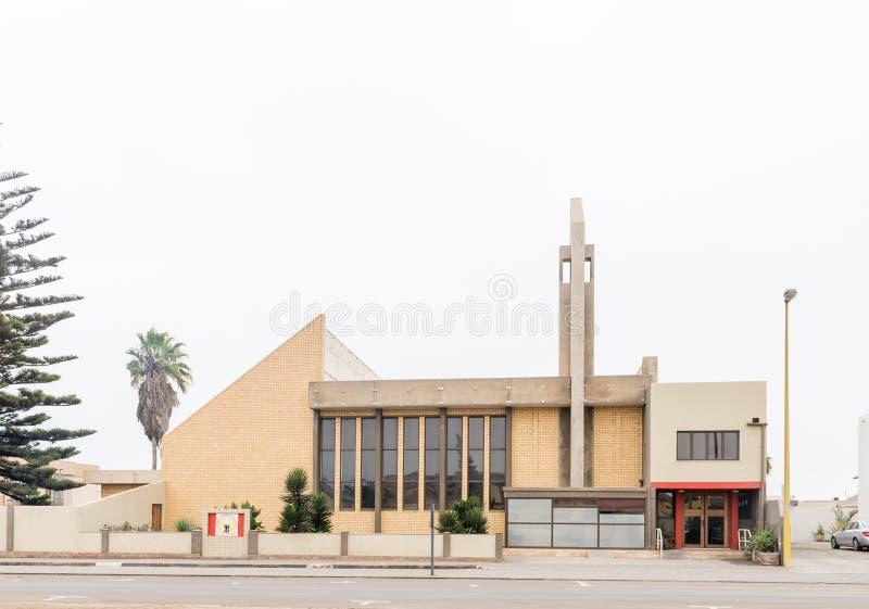 Nederlandse Opnieuw gevormde Kerk in Swakopmund royalty-vrije stock foto's