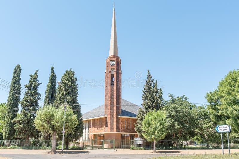 Nederlandse Opnieuw gevormde Kerk Wilgehof stock afbeeldingen