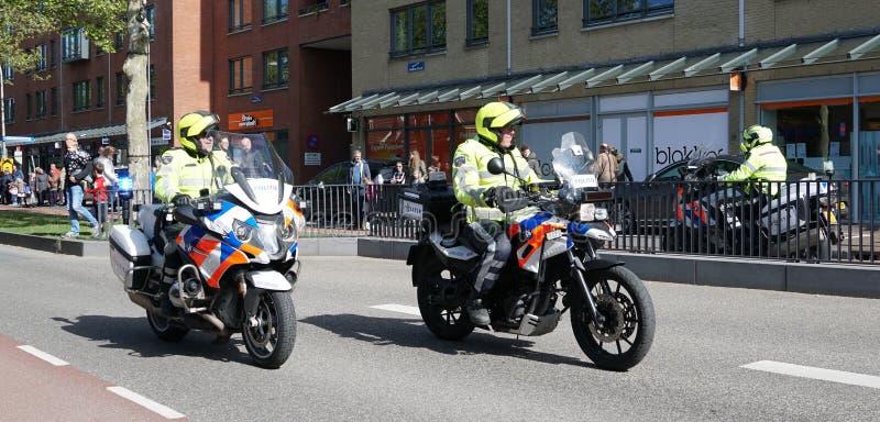 Nederlandse politiemannen royalty-vrije stock afbeelding