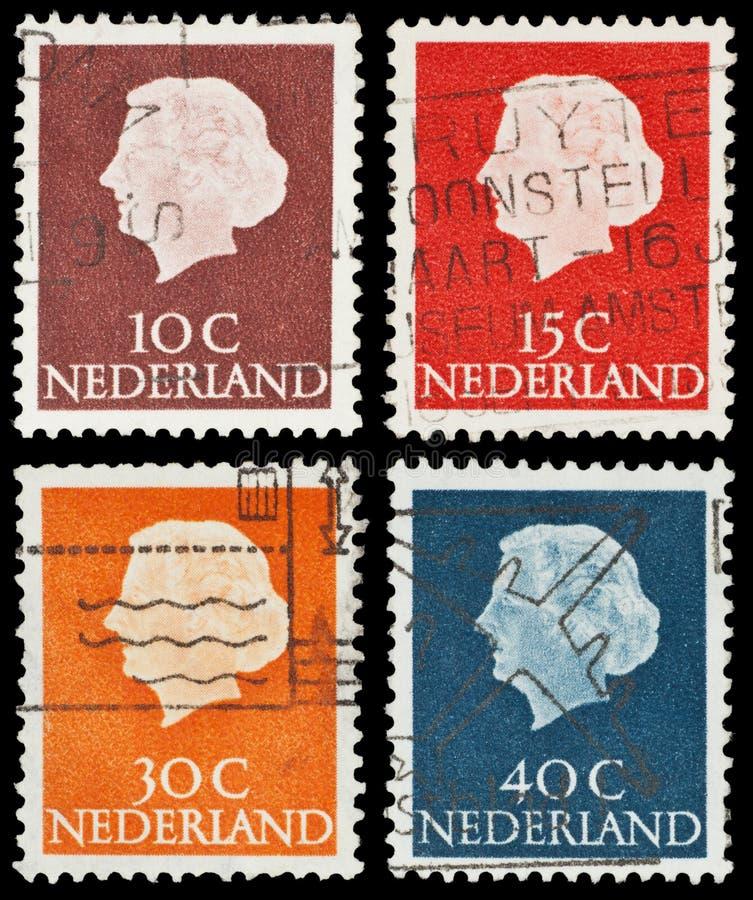 Nederlandse postzegels royalty-vrije stock afbeelding