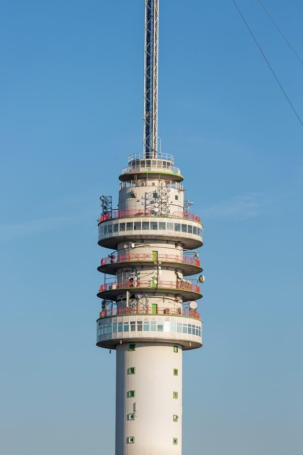 Nederlandse TV en radiotoren in Smilde stock foto's