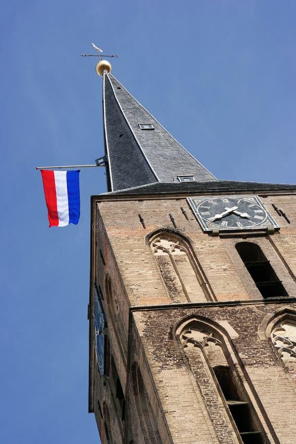 Nederlandse Vlag bij toren royalty-vrije stock foto