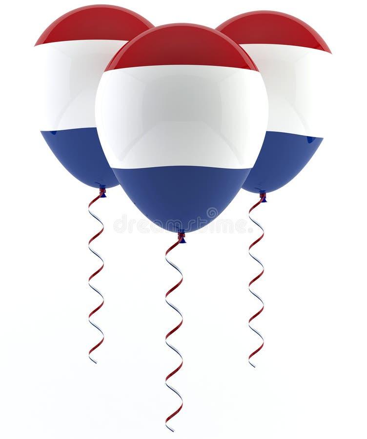 Nederlandse vlagballon royalty-vrije illustratie