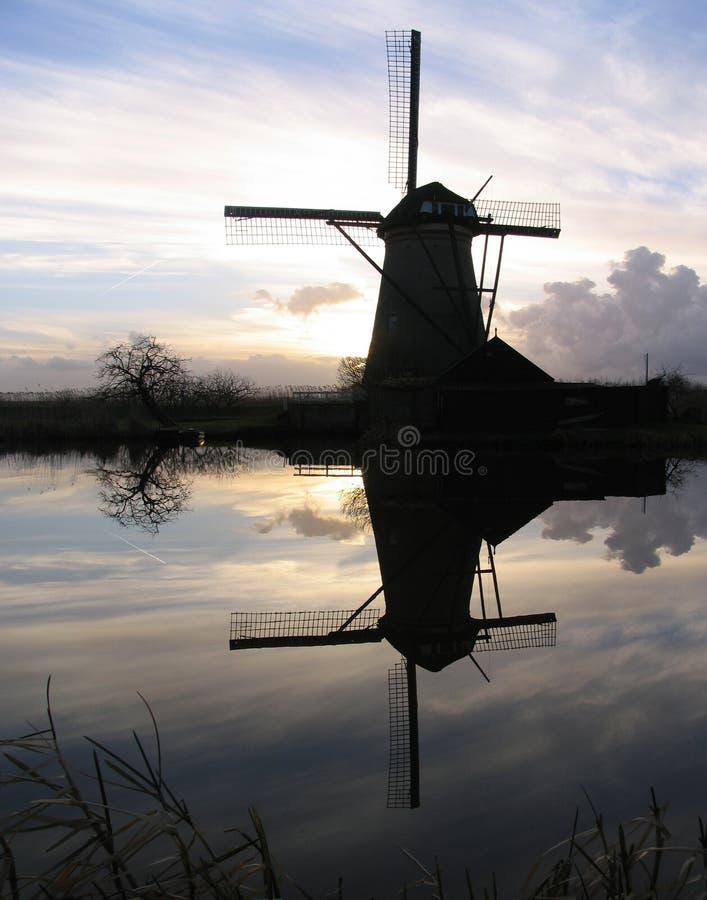 Nederlandse windmolen 5 royalty-vrije stock afbeelding