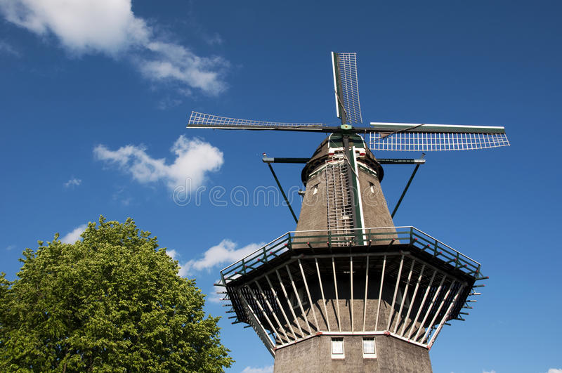Nederlandse windmolen - detail royalty-vrije stock foto