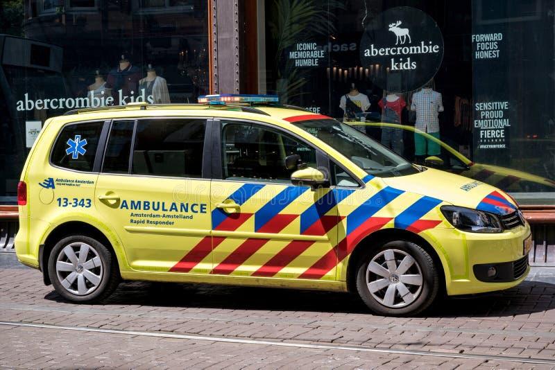Nederlandse Ziekenwagen royalty-vrije stock afbeelding