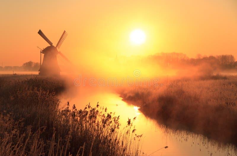 Nederlandse zonsopgang stock foto