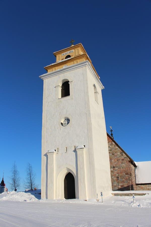 Nederluleå Church in Gammelstad Church Town royalty free stock photo