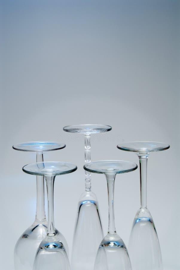 nederst glass wine royaltyfri fotografi
