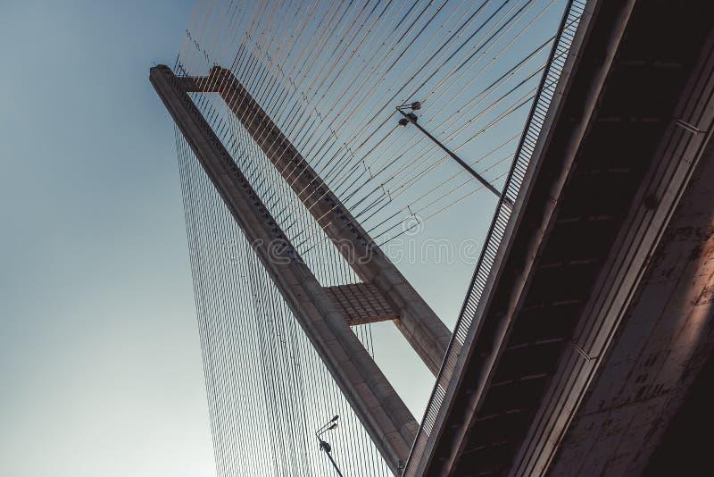 Nedersta sikt på bron arkivbilder