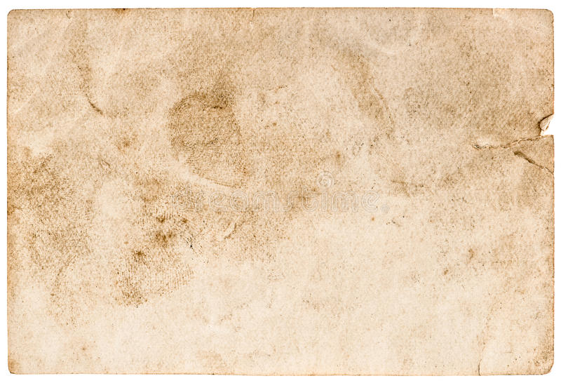 Nedfläckad använd pappers- bakgrund Grunge textur royaltyfria bilder
