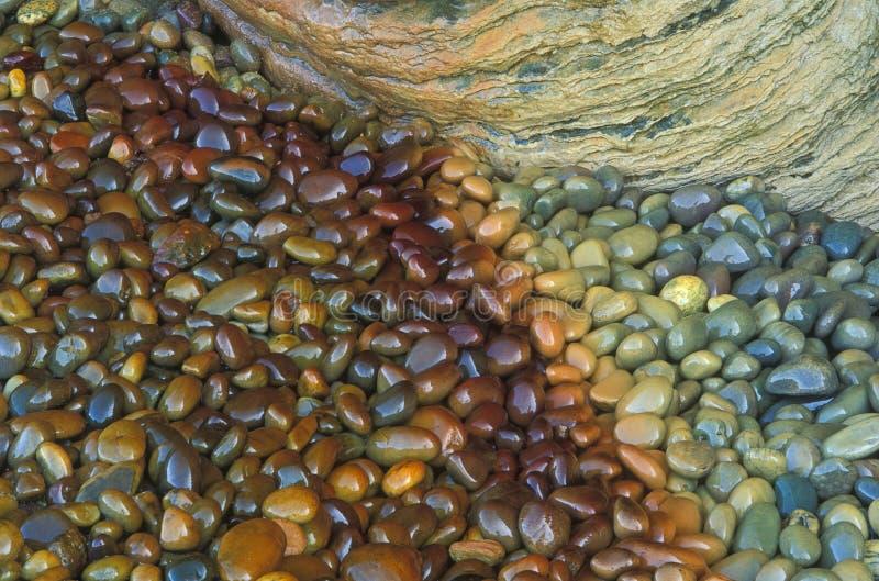 nedfläckada stenar för mineral arkivfoto