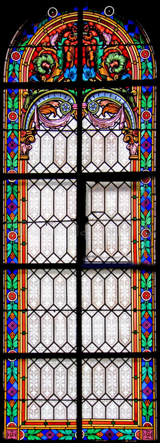 nedfläckadt fönster för 64 exponeringsglas fotografering för bildbyråer