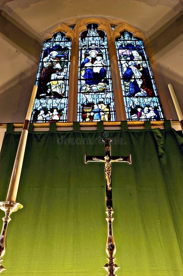 nedfläckadt fönster för korsexponeringsglas royaltyfri foto