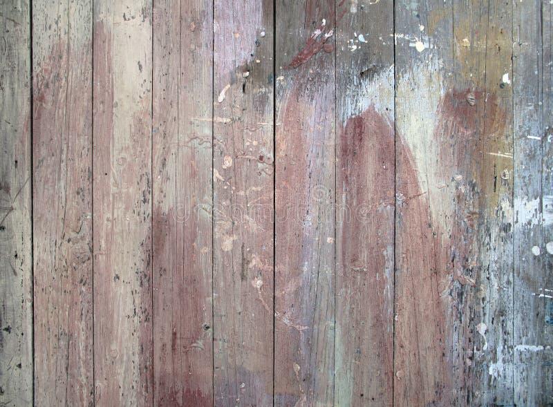 Nedfläckat gammalt trä för målarfärg royaltyfri fotografi