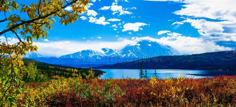 Nedgång av den Denali nationalparken arkivfoton