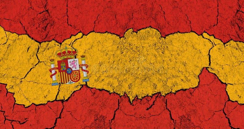 Nedgång av Spanien vektor illustrationer