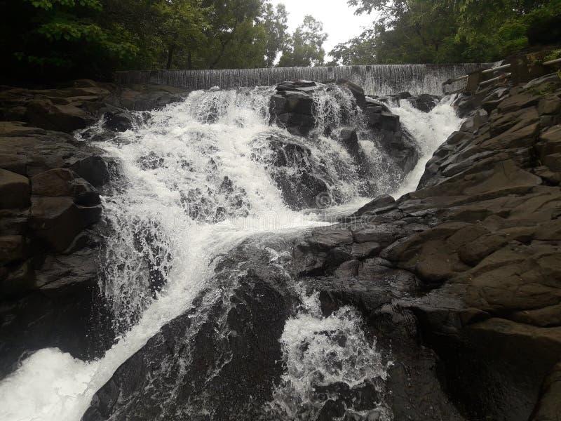 Nedgång för flodvatten royaltyfria foton