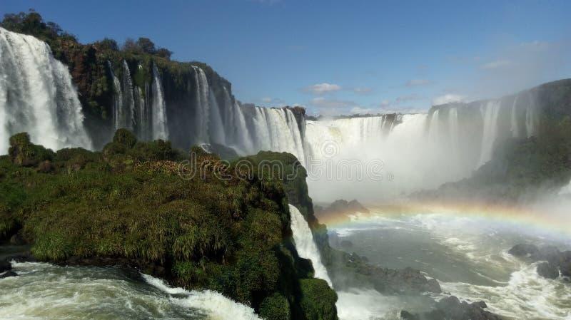 Nedgångar av Iguazuen på deras bästa royaltyfria foton