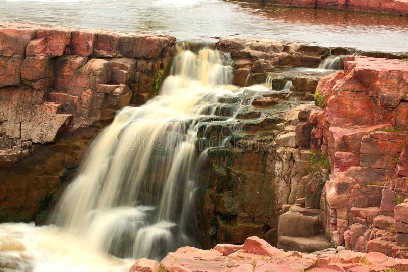 Nedgångarna av Sioux River royaltyfria foton