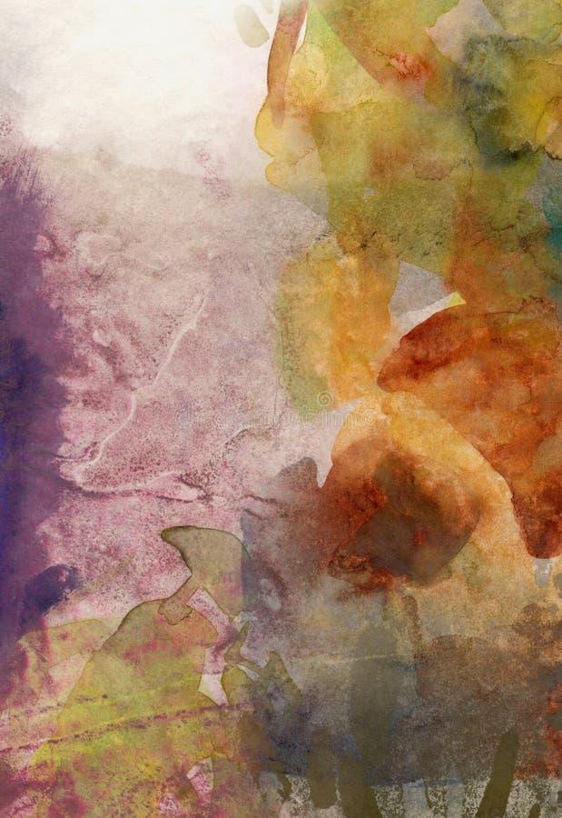 Nedgången färgar bakgrundsgrunge stock illustrationer