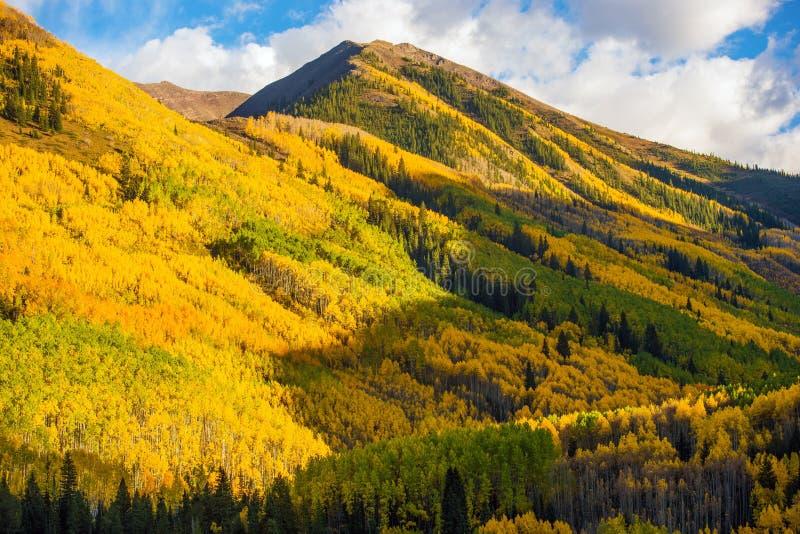 Nedgångkullar av Colorado royaltyfria foton