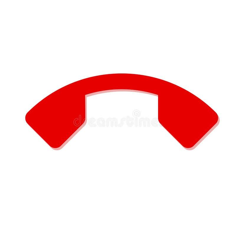 Nedgångtelefonsymbol på en vit bakgrund royaltyfri illustrationer