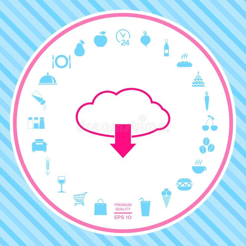 Nedladdning från molnet royaltyfri illustrationer