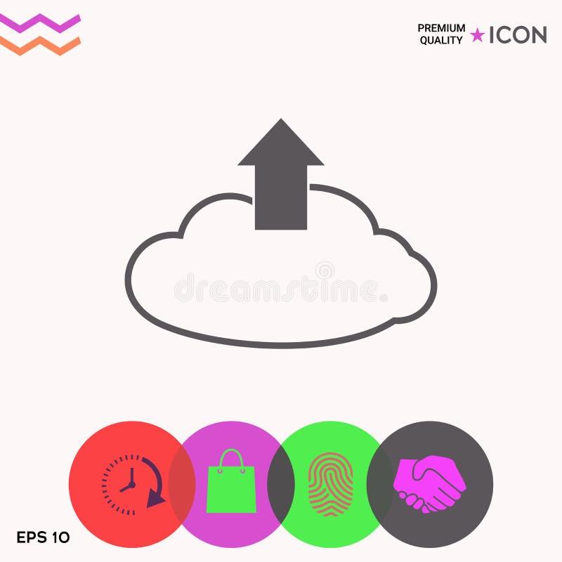 Nedladdning från molnet vektor illustrationer