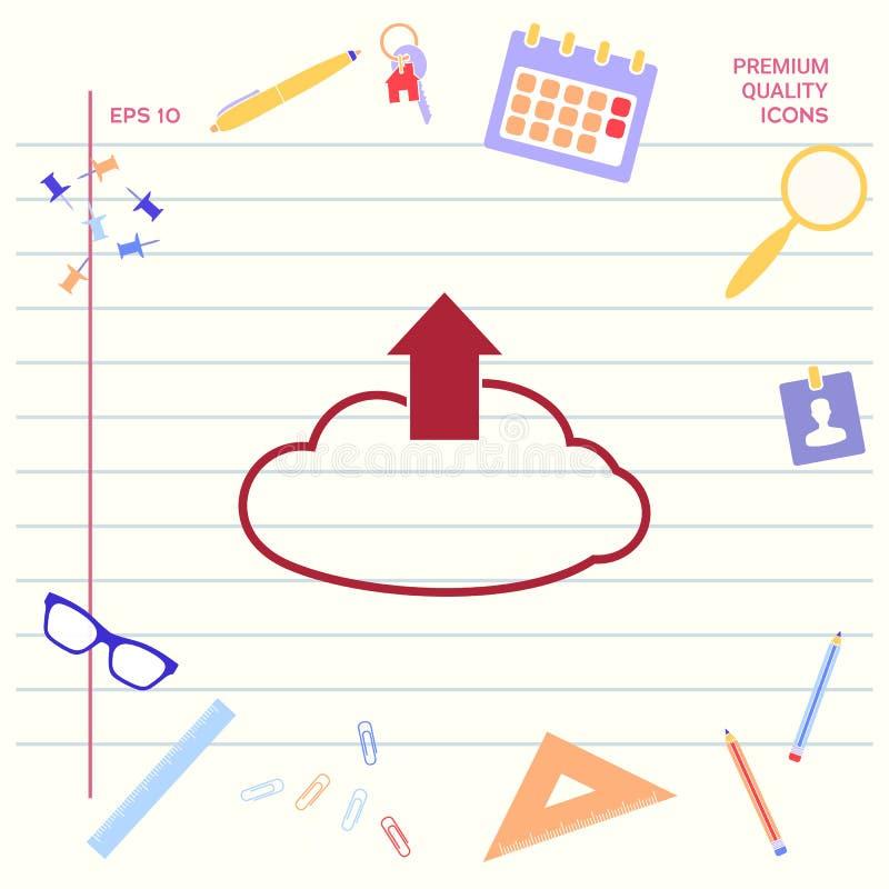 Nedladdning från molnet stock illustrationer