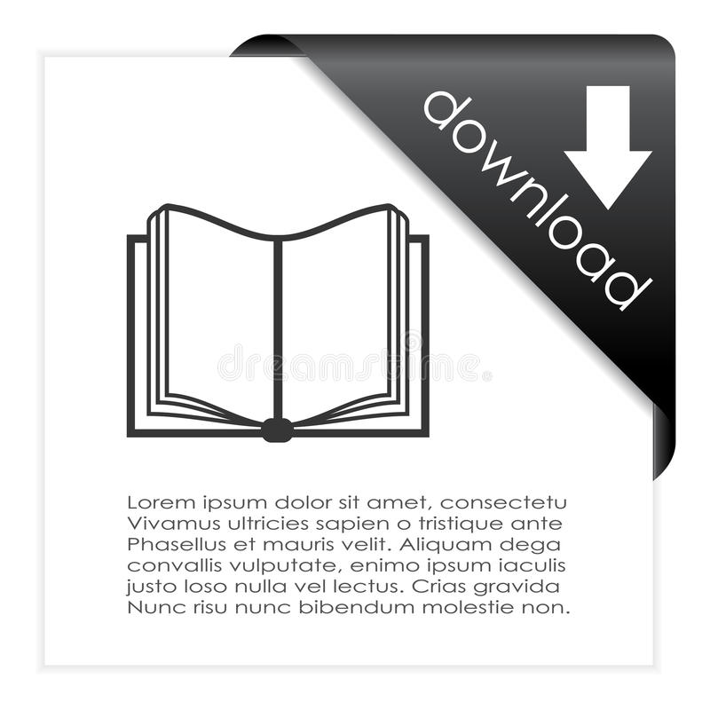 Nedladdningboksymbol royaltyfri illustrationer