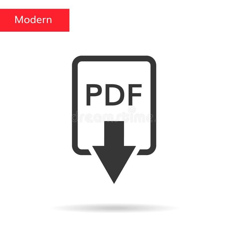 Nedladdningpdf-symbol stock illustrationer