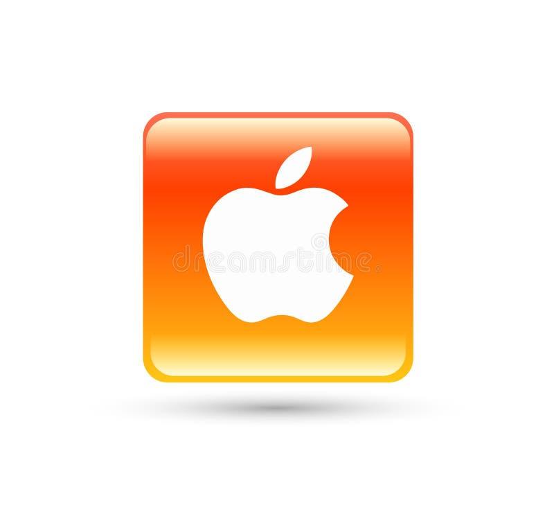 Nedladdningsymbol Apple med ny modern lutning vektor illustrationer