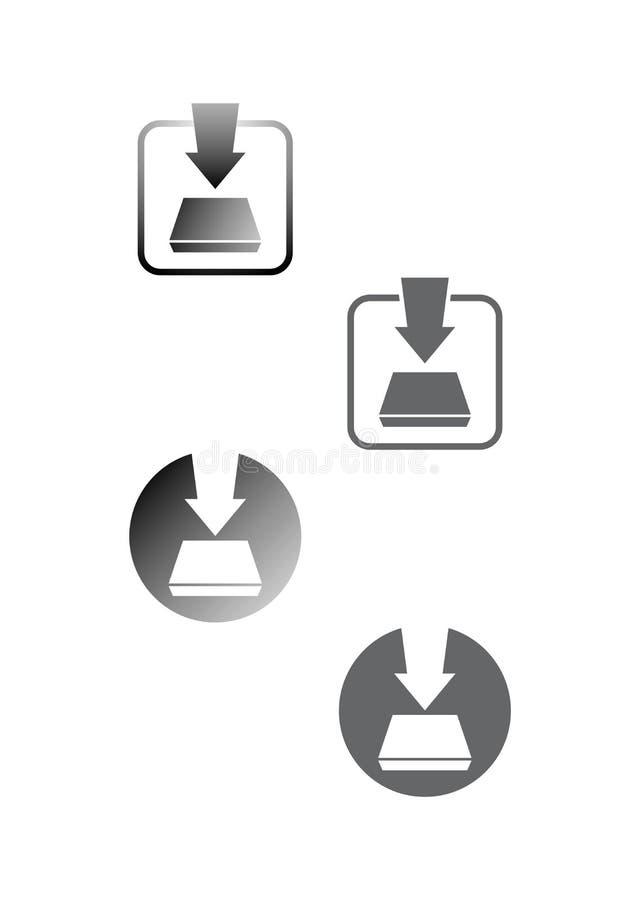 nedladdningsymboler arkivbilder