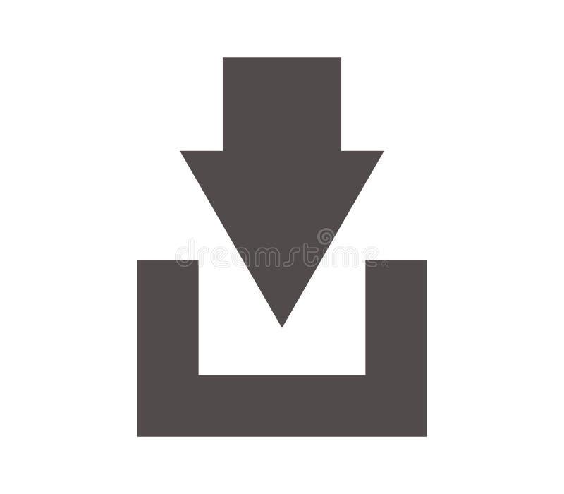 Nedladdningsymbolsillustration vektor illustrationer