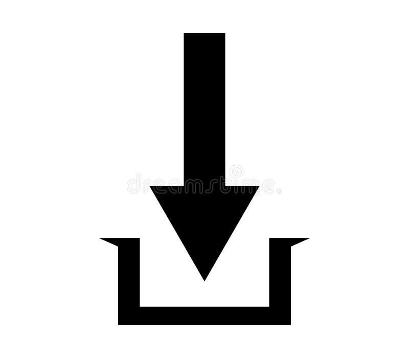 Nedladdningsymbolsillustration royaltyfri illustrationer