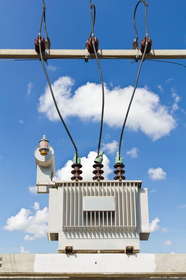 Nedsänkt transformator för olja royaltyfri foto