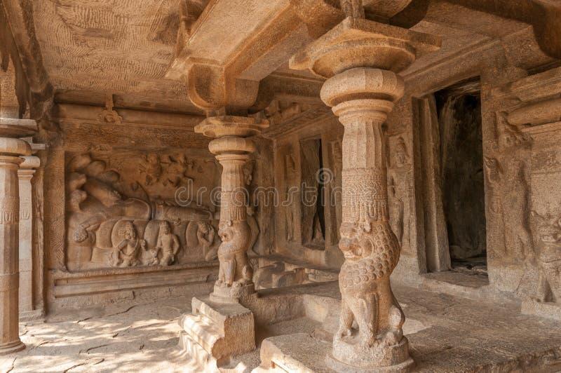 Nedstigning av den Ganges templet arkivbilder