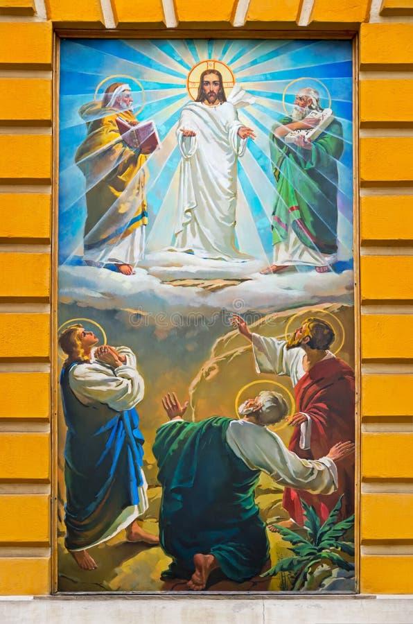 Nedstigning av den heliga anden på apostlar royaltyfria foton