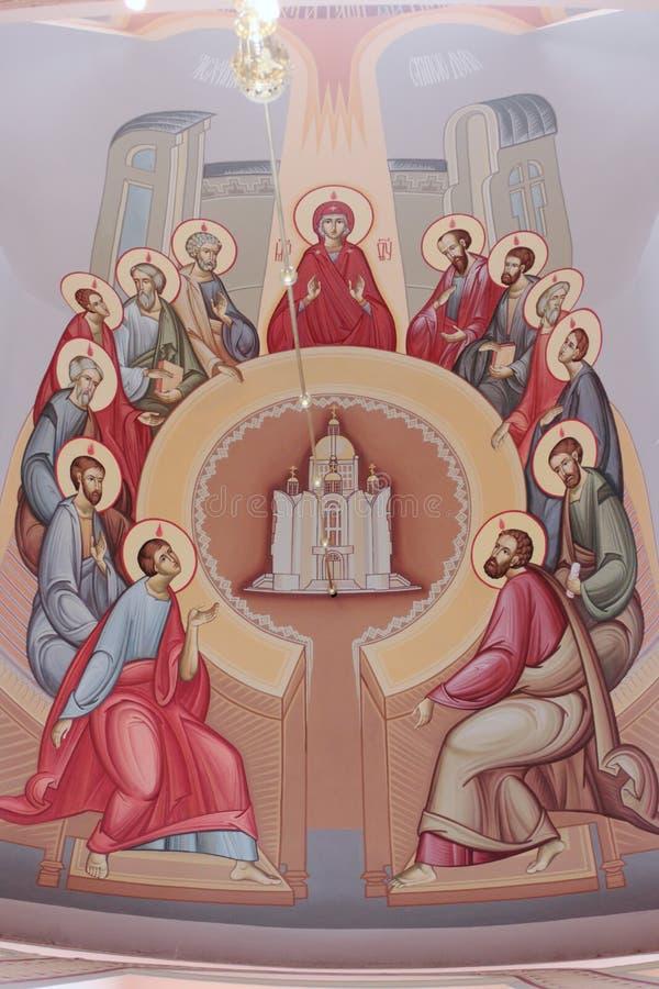 Nedstigning av den heliga anden. Pingstdagen. royaltyfria bilder