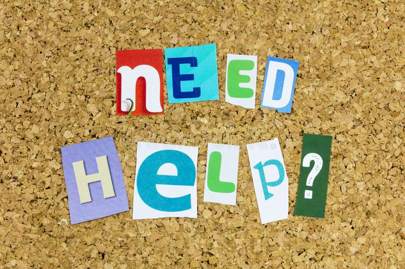 Need help others skills ability helping hand teamwork. Need help others protection assistance skills support solution ability helping hand teamwork typography royalty free stock image