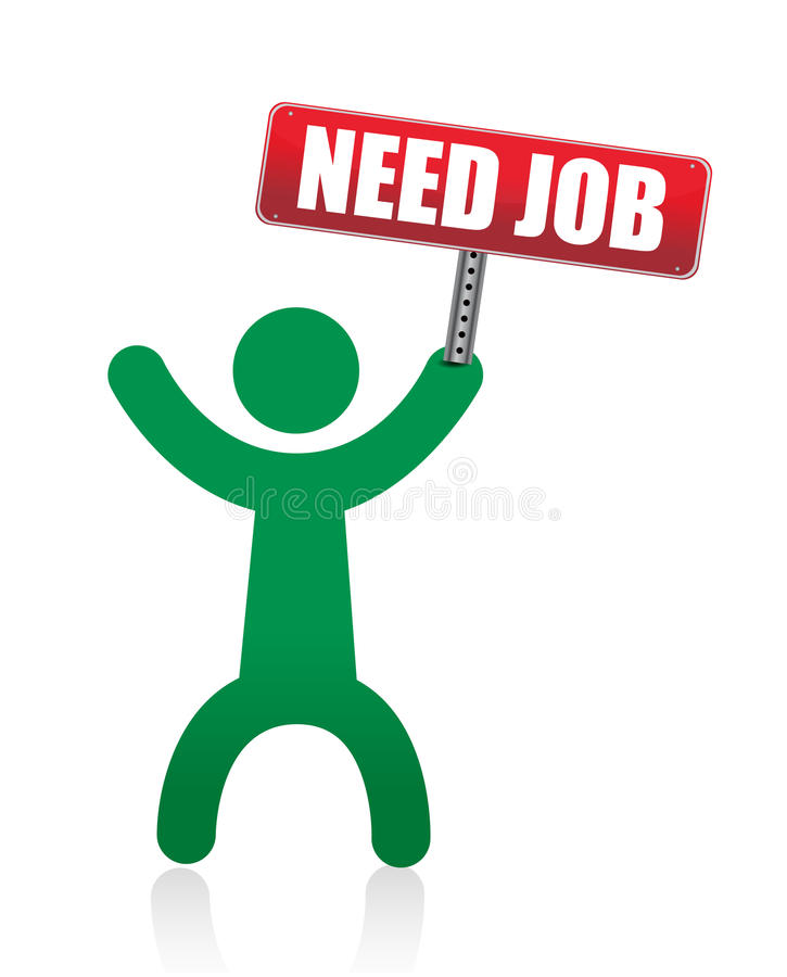 Need A Job Banner And Icon Royalty Free Stock Photo