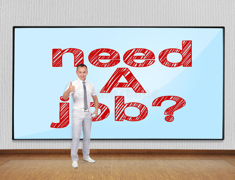 Download Need a job concept stock photo. Image of thumb, teaching - 34361062